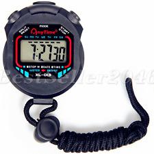 Sports Waterproof Digital Handheld LCD Stopwatch Chronograph Counter Timer Watch