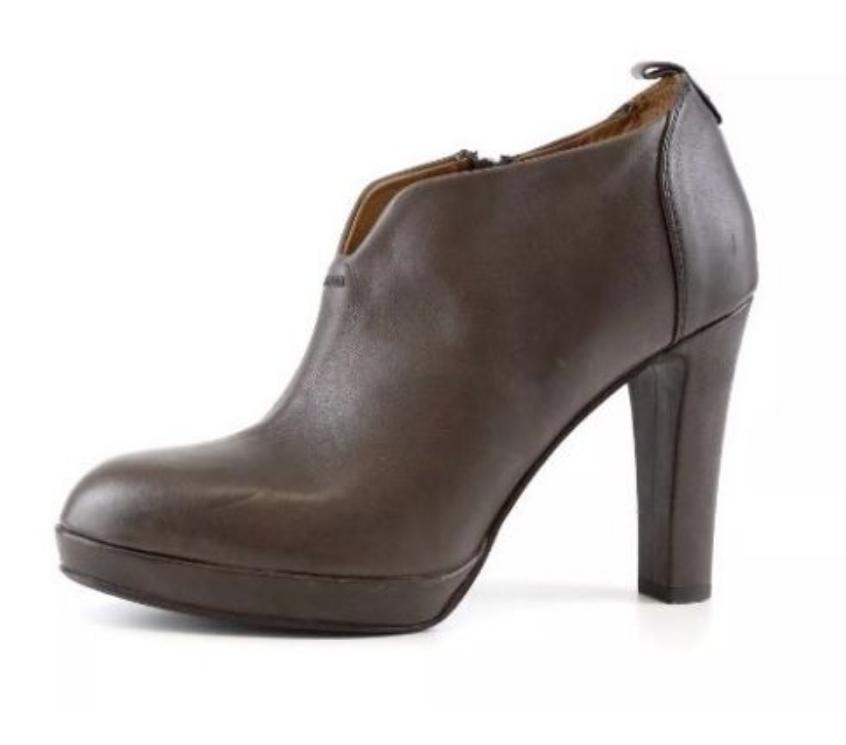 Alberto Fermani Womens High Heel Brown Leather Ankle Bootie Sz 39 EUR 5634