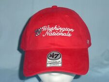 huge selection of 9eb9e ce372 WASHINGTON NATIONALS Clean Up style CAP HAT  47 Brand Womens OSFA size NWT   28