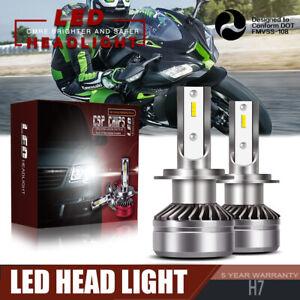 Details About Pair H7 Led Headlight Bulb Kit Fit Kawasaki Zx10r 650r 636 Zx6r 250r 300 Ninja