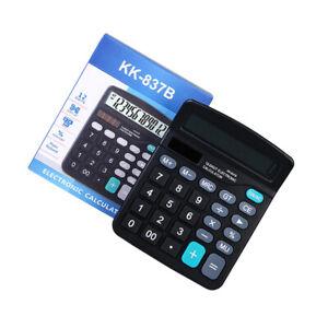 Solar-Taschenrechner-12-Tischrechner-Calculator-Dual-Power-Rechner-Buerorechner