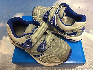 Jumping Jacks Gray Blue Washable Hook & Loop Sneaker Size 25W /US Toddler 8W