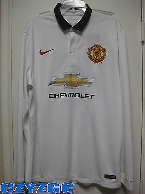 new styles 68601 d901a BNWT Manchester United 2014-2015 Long-Sleeves Away Shirt XL   eBay