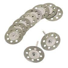 10 un. 30MM Discos de Diamante Corte Hojas De Sierra Mandril Herramienta Rotativa Dremel (101)