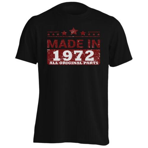 Fabriqué en 1972 Toutes Original Parties Funny Novelty Tee-Shirt Homme//Tank Top jj68m