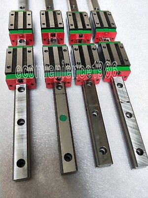 2 sets HGR15-300mm Hiwin Liner rail /& 4 pcs HGW15CC Block Bearing
