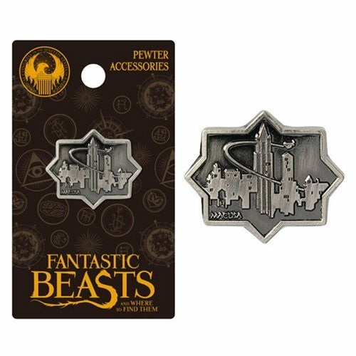 Fantastic Beasts and Where to Find Them Official Macusa Pewter Lapel Pin