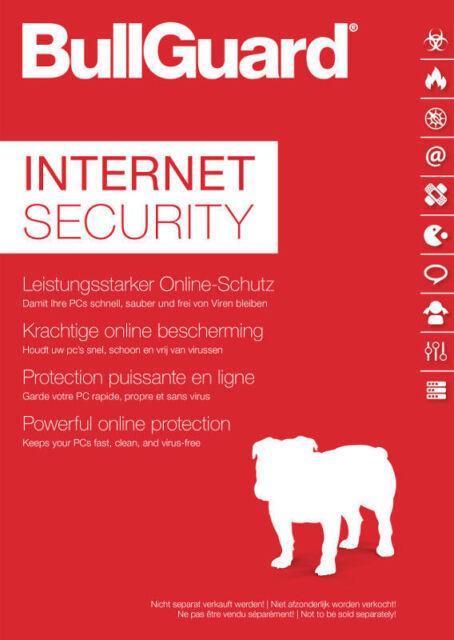 Bullguard Internet Security 3 PC 2018 - 1- Jahr  - Windows  / KEY / 2019 ready