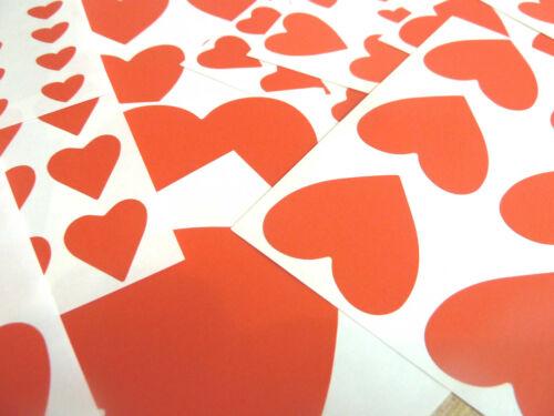 Tamaño mezclado color rojo corazón en forma de Pegatinas Etiquetas corazones pegajoso