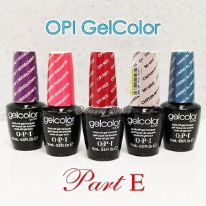 OPI GelColor PART E All New Soak Off Led UV Gel Lacquer Base Top Coat 15ml 0.5oz