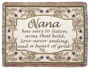 Heart of Gold Nana Tapestry Throw Blanket