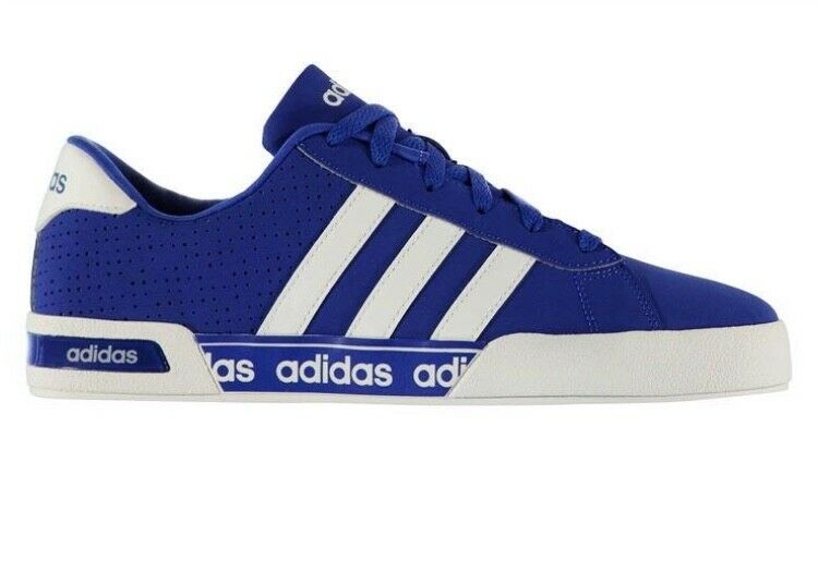 Brand New Mens adidas Neo Daily Mono Trainers Air Force blue/white size 6 1/2