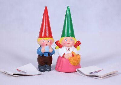 Two 1980 World of David Gnome Vintage PVC Figure Unieboek Toy
