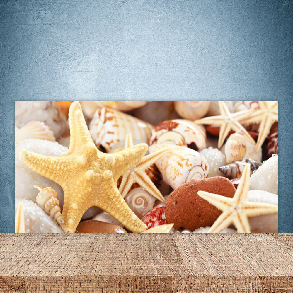 Crédence de cuisine en verre Panneau Paroi 100x50 Art Coquilles étoile De Mer
