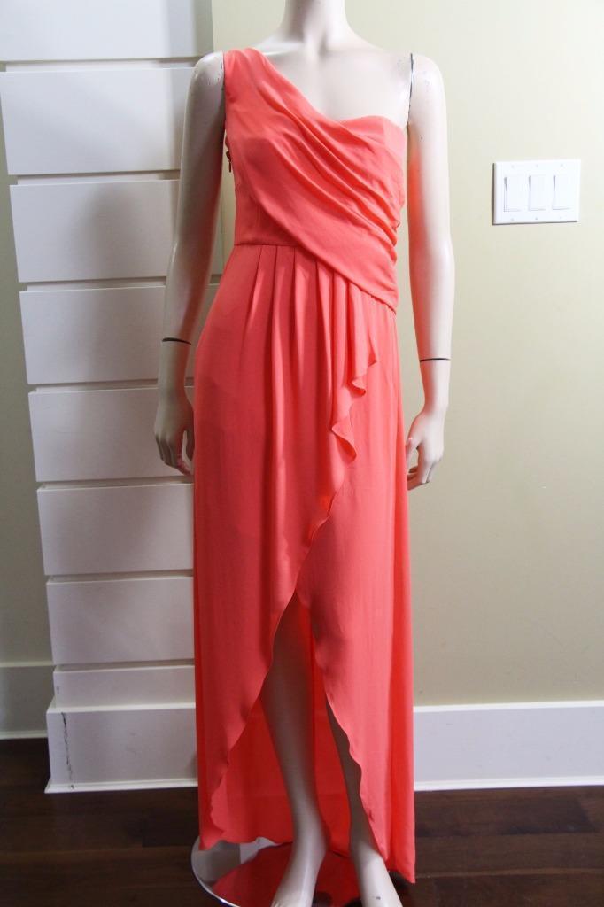 AUTH AUTH AUTH NEW BCBG MAXAZRIA Kail Draped One-Shoulder Gown  298 26e4b3