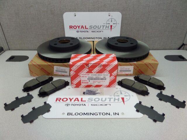 Toyota Yaris Front Brake Pad /& Front Rotors Set Genuine OE OEM