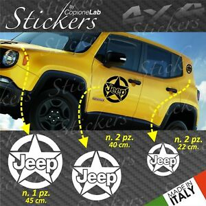 Set-5-Adhesives-Sticker-Jeep-Renegade-Stella-Logo-Bonnet-Door-Mount