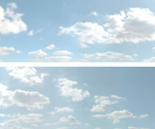 "Scenic Backdrop Summer Sky 501B (10' L x 24"" H) Standard HO Scale"