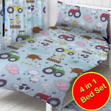 farm animals tractors toddler junior 4 in 1 bedding bundle set rh ebay co uk bathroom curtain sets for showers and windows bathroom curtain sets
