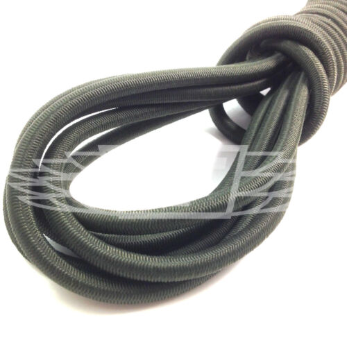 6mm x 5m LONG NATOOLIVE GREEN STRONG ELASTIC BUNGEE ROPE SHOCK CORD TIE DOWN