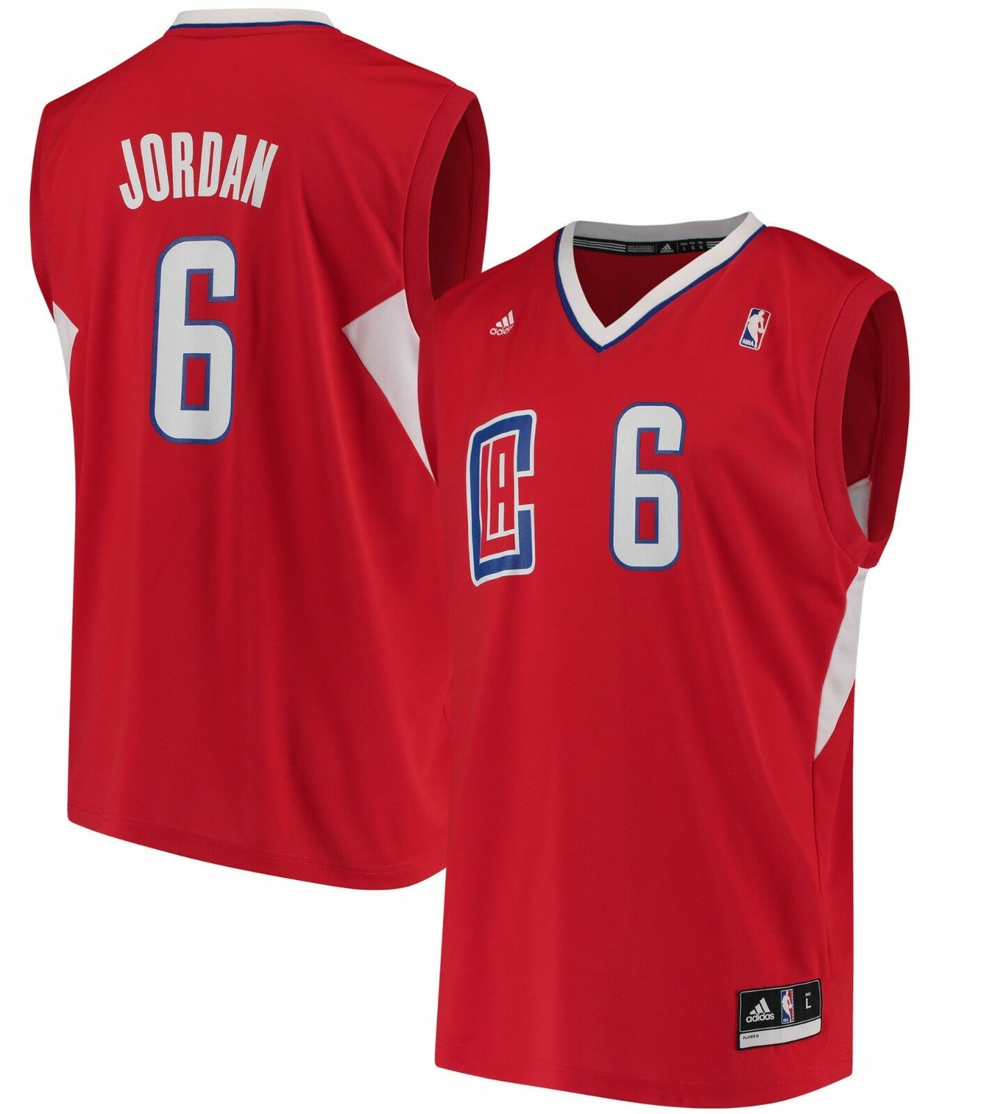 DeAndre Jordan LA Clippers adidas NBA  Replica Jersey - RED % GENUINE