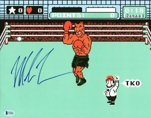 Mike Tyson Authentic Signed 11x14 Punch Out Photo Autographed BAS Witnessed