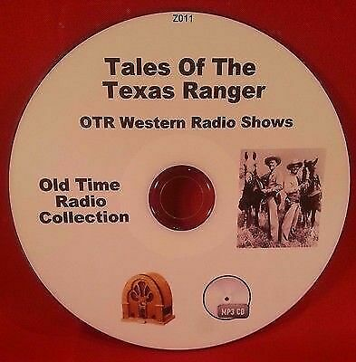 Tales of the Texas Rangers OTR MP3 CD 92 Old Time Radio Shows Audio Book