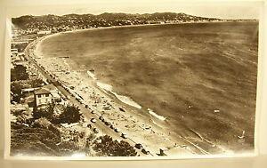 Photographie-la-plage-Mandelieu-la-Napoule-Canne-Provence-vue-aerienne-1960-44cm