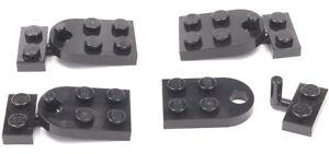 LEGO-4-x-Haken-Anhaenger-Kupplung-komplett-schwarz-3176-88072-NEUWARE