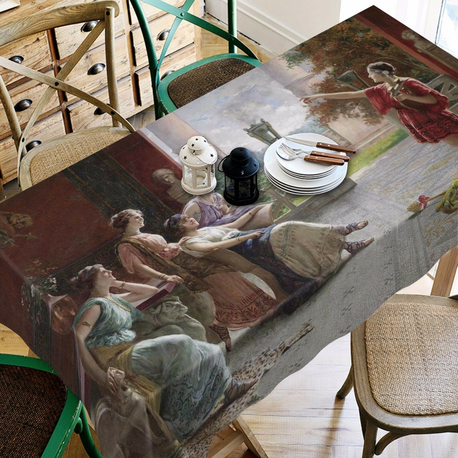 3D Woman 907 Tablecloth Table Cover Cloth Cloth Cloth Birthday Party Event AJ WALLPAPER UK 4aa24b