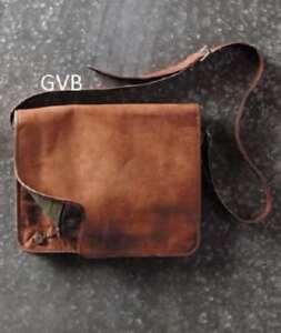 New Vintage Leather Men/'s Handmade Brown Laptop Shoulder Satchel Messenger Bag