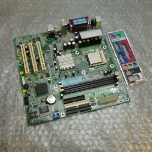 Dell-F5949-0F5949-Dimension-2400-Socket-478-Motherboard-w-Intel-CPU-amp-IO-Plate