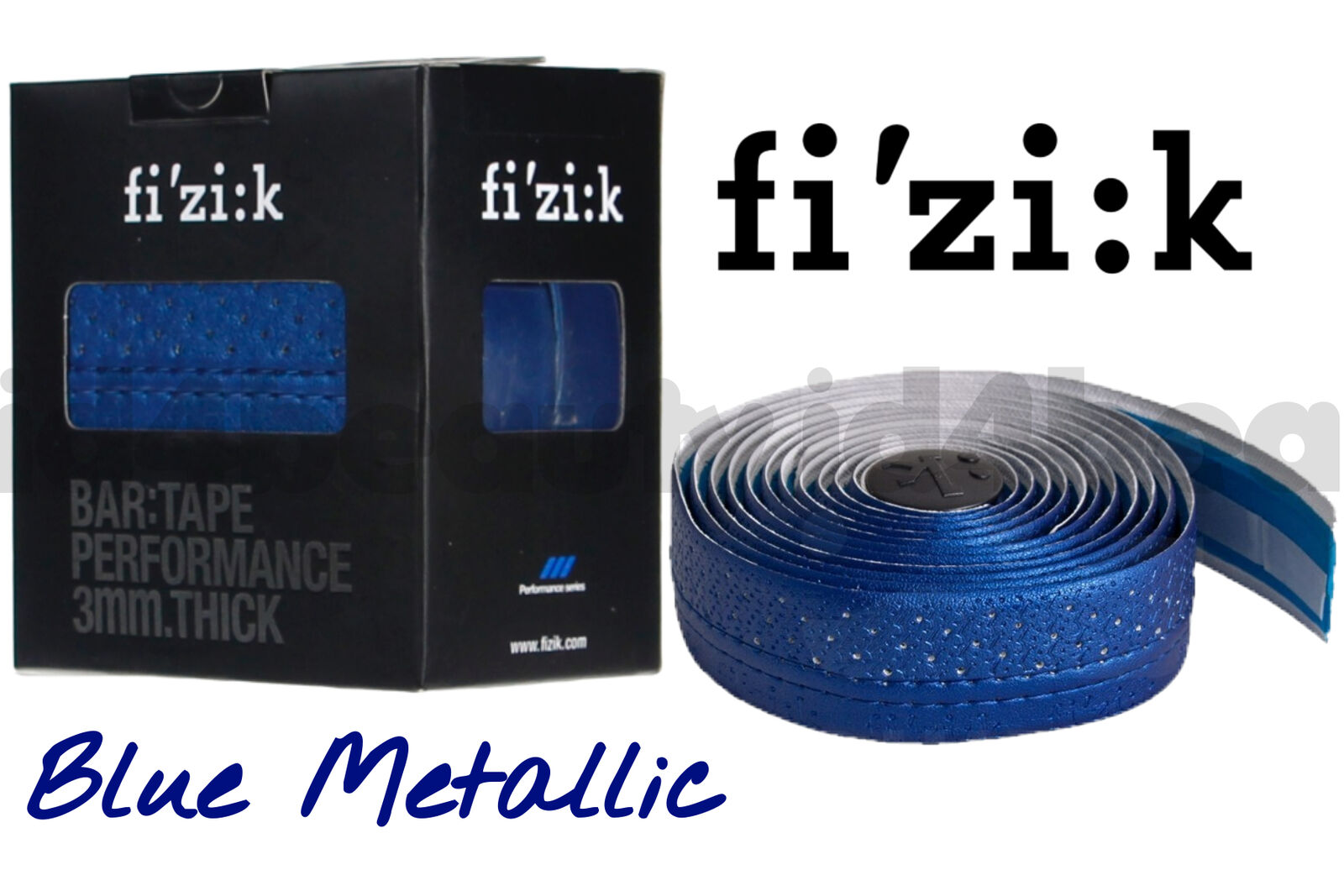 NEW Fizik Performance Bar Tape Metal Blue