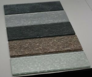 Glass mosaic tiles slate grey beige ice silver grey textured