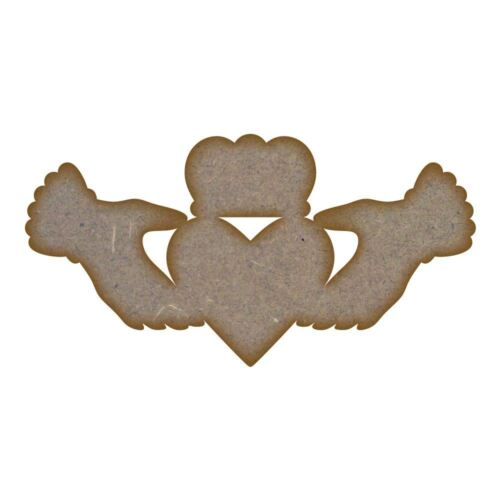 Claddagh MDF Laser Cut Craft Blanks in Various Sizes