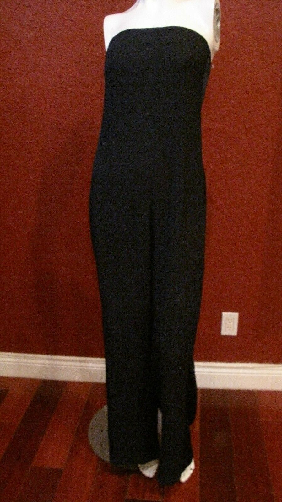 ZARA BASIC COLLECTION STRAPLESS blueE  JUMPSUIT SIZE S