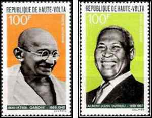 Timbres-Personnages-Haute-Volta-PA61-2-lot-4041