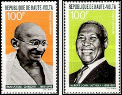 Timbres Personnages Haute Volta PA61/2 * lot 4041