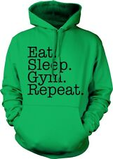 Eat Sleep Gym Repeat Workout Fitness Meathead Hoodie Pullover