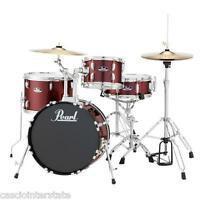 Pearl Roadshow Rs584cc91 4pc Drum Set W/ Hardware & Cymbals. Wine Red