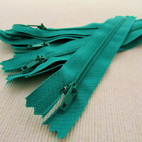 """10 x 4"""" - Nylon No.3 auto lock Zips  for sewing & crafts  - COLOUR  choice"""