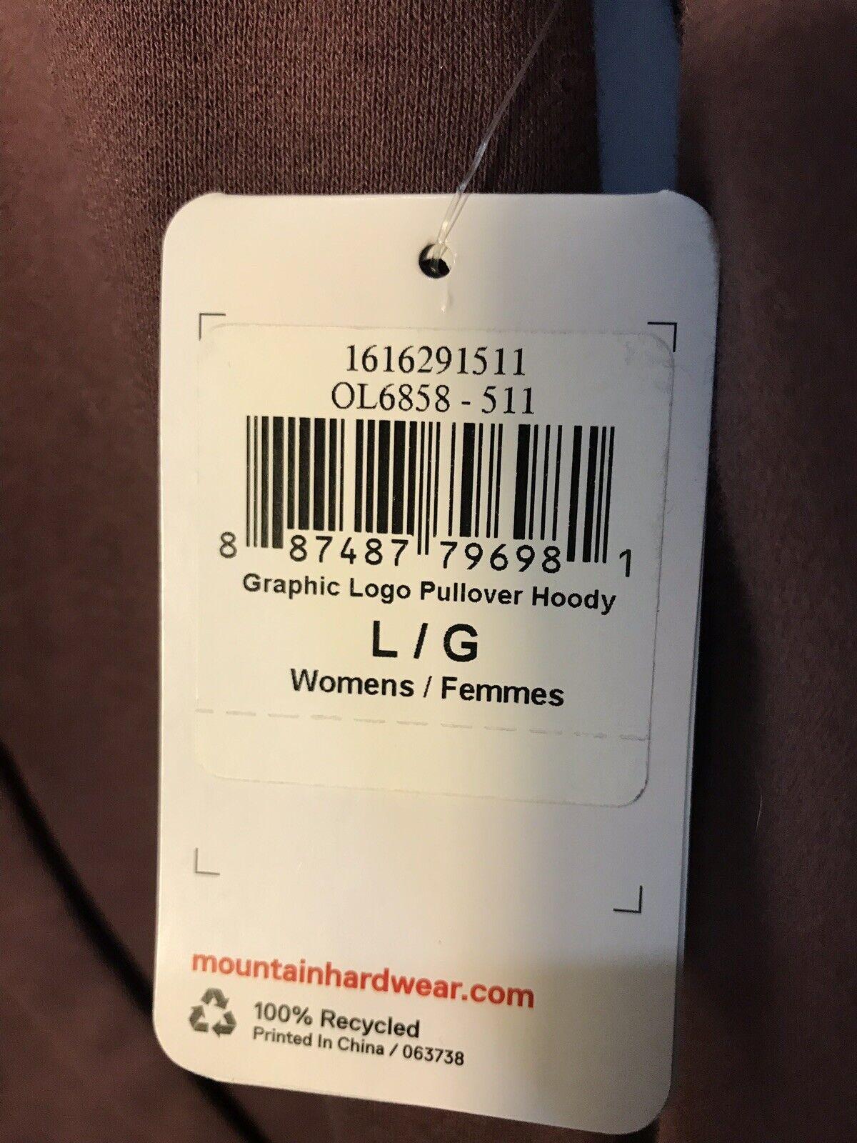 Mountain Hardwear Graphic logo Hoodie Women's Large L Plum Hoody New Rare