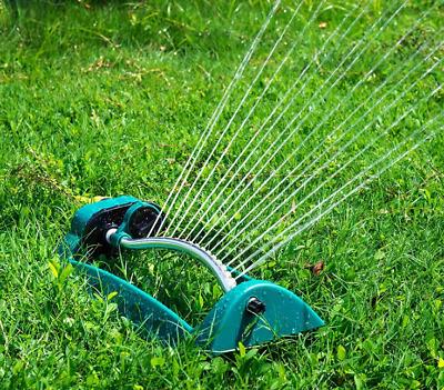 Viereckregner 21 Düsen Rasensprenger Schwenksprenger Rasensprinkler Bewässerung