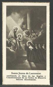 image pieuse ancianne de Santa Juana de Lestonnac santino holy card estampa NMjG7aUf-09121151-708894149