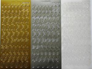 Grande-2cm-cursiva-Numeros-Adhesivo-Lamina-Manualidades-Tarjetas-ELEGIR-COLOR