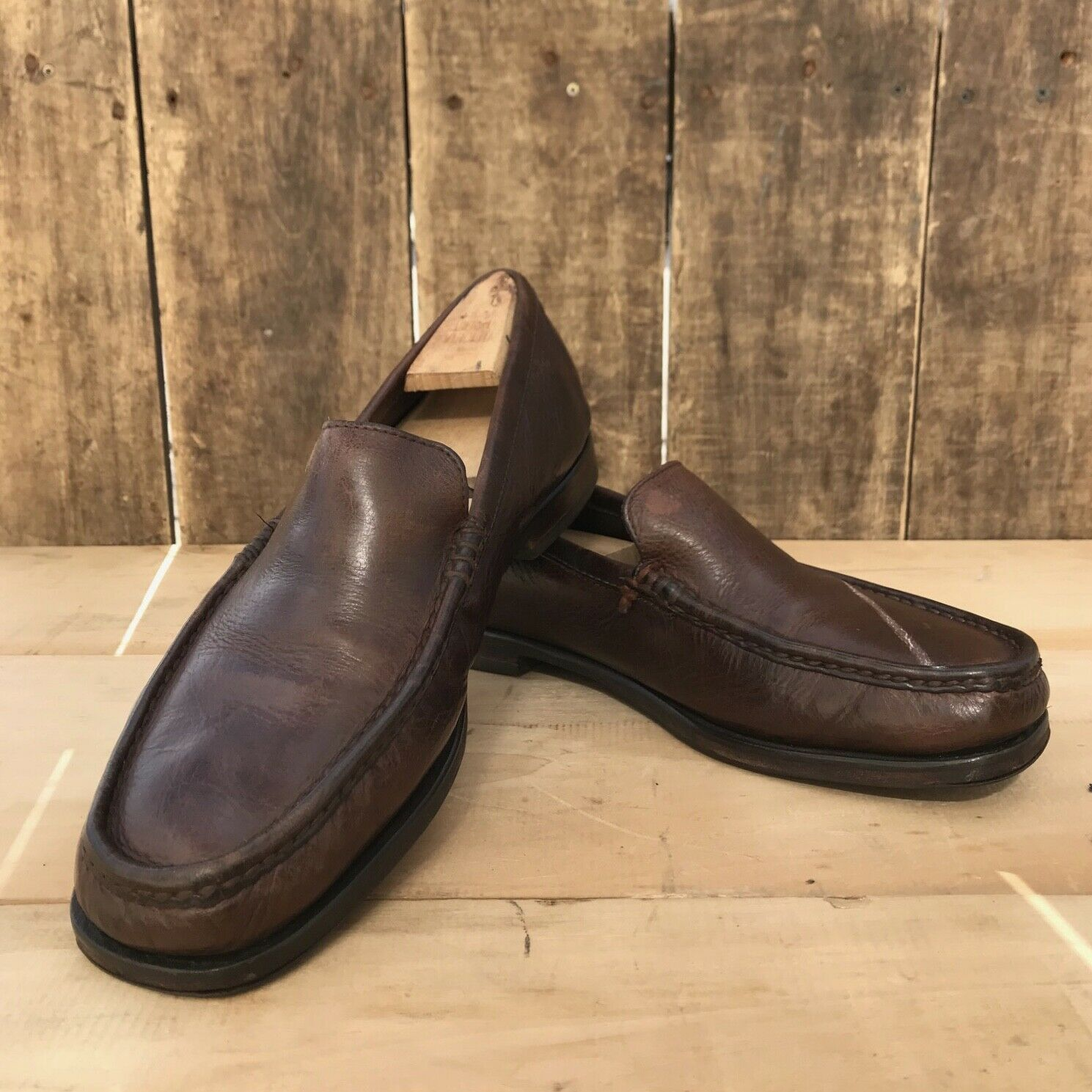 CHATHAM - chaussure mocassin bateau en cuir - pointure 41