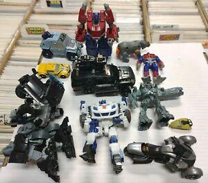 LOT 10 TRANSFORMERS FIGURES Robot Optimus Prime Bumblebee Megatron toys parts