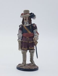 FRANKLIN MINT Officer His Majesty's Guards 1660s 60mm Military Figure Soldier