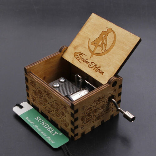 New Year Engraved Wooden Music Box Toys Kids Gifts