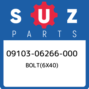09103-06266-000-Suzuki-Bolt-6x40-0910306266000-New-Genuine-OEM-Part